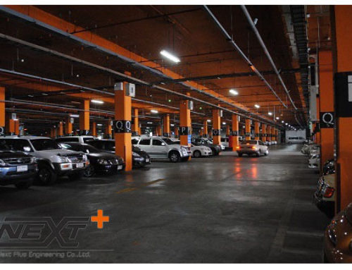 ระบบจอดรถอัจฉริยะ อาคารชาเลนเจอร์ เมืองทองธานี
