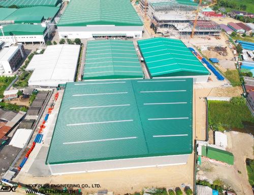 โครงการ ก่อสร้างคลังสินค้า บริษัท แคล-คอมพ์ อีเล็คโทรนิคส์ (ประเทศไทย) จำกัด (มหาชน) สาขาเพชรบุรี (โครงการ C ขนาด 7,600 ตร.ม.)