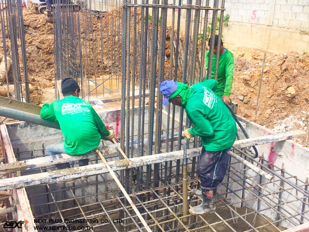 การก่อสร้างฐานรากโรงงาน