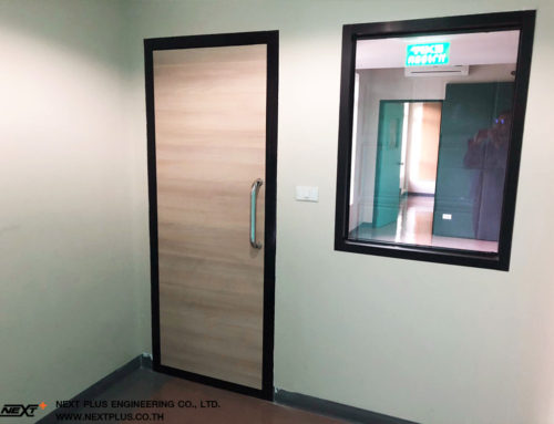 โครการ งานประตูและกระจกเก็บเสียง KIS International School