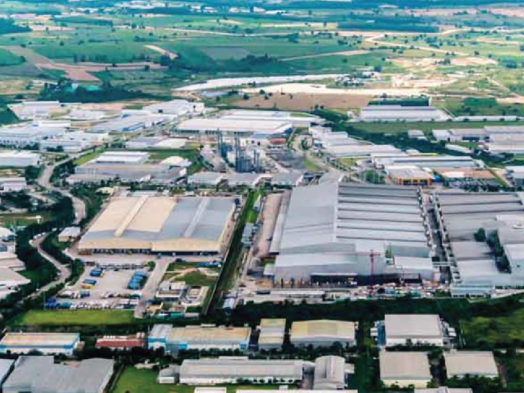 พื้นที่สร้างคลังสินค้าในนิคมอุตสาหกรรม