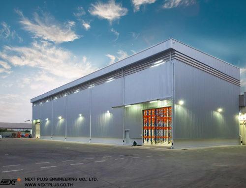 โครงการก่อสร้างโกดังสินค้า บริษัท แคล-คอมพ์ อีเล็คโทรนิคส์ (ประเทศไทย) จำกัด (มหาชน) สาขาสมุทรสาคร (ขนาด 1,200 ตร.ม.)