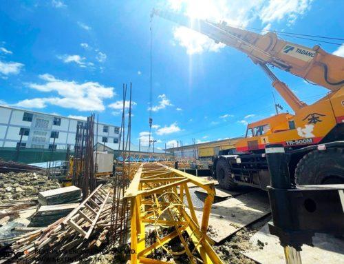 โครงการก่อสร้างอาคารที่จอดรถและหอพักพนักงาน ความสูง 8 ชั้น โรงพยาบาลมหาชัย 2